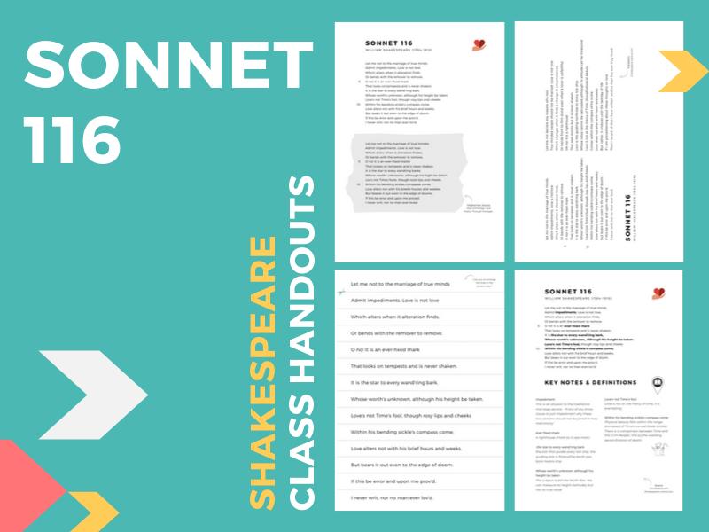 Sonnet 116 Class Handouts