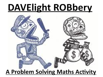 Engaging activity where students have problems to solve given a crime scenario clues