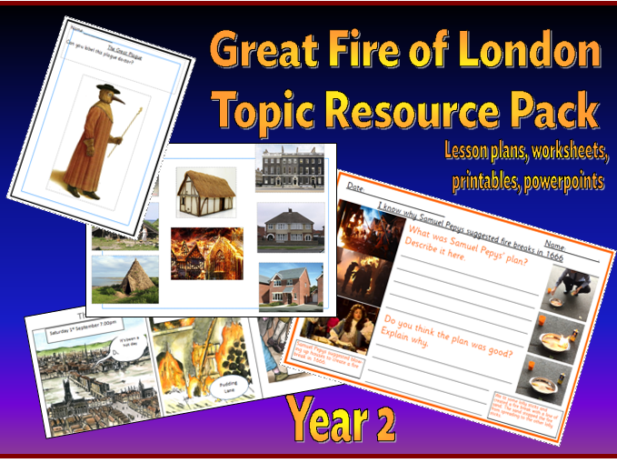 Great Fire of London  - Scheme of Work and resources Y2