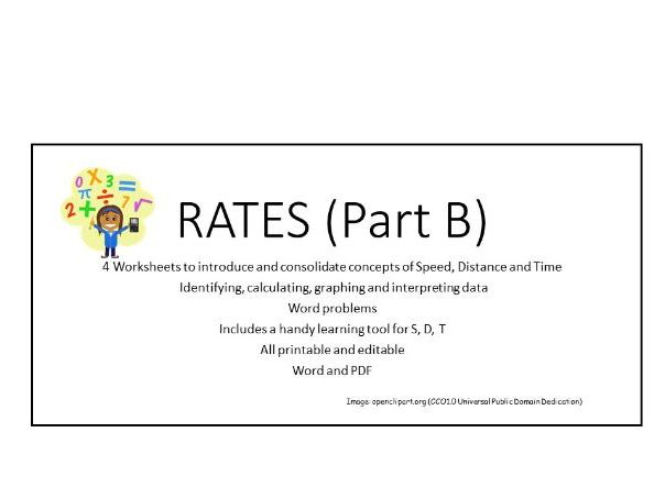 Rates (B):  Speed, Distance, Time