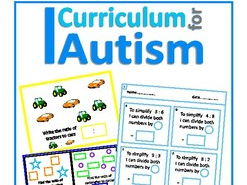Ratio Count, Write, Match & Simplify Unit, Autism Special Education (Discounted Bundle)
