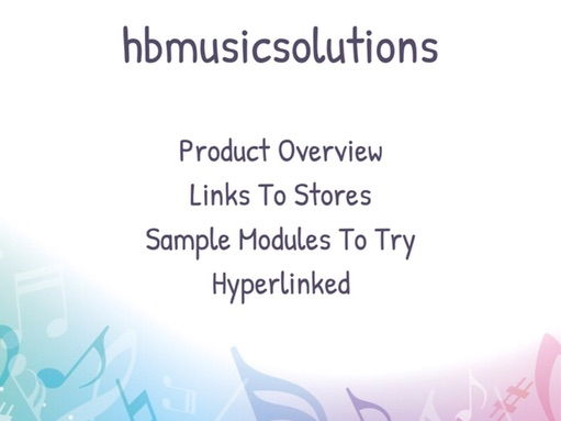 hbmusicsolutions Music Interactive Resource Catalogue (includes 2 free modules)