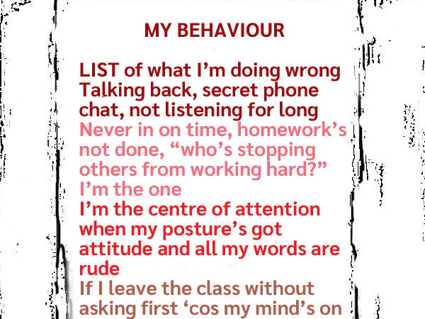 Behaviour Poem Poster (UK)