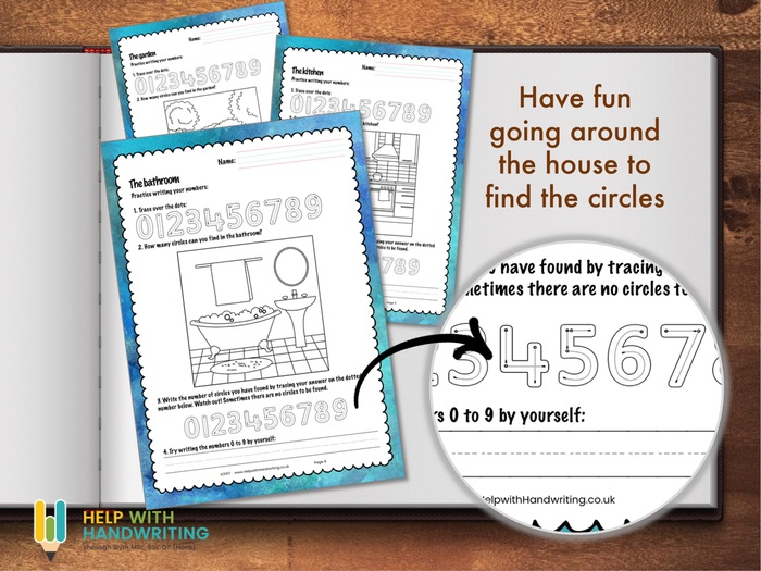 Numbers and Circles Handwriting Workbook