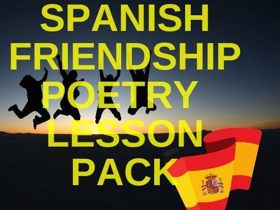 Spanish Friendship Poetry Lesson