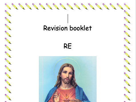 RE revision comprehension booklet - The Life of Jesus