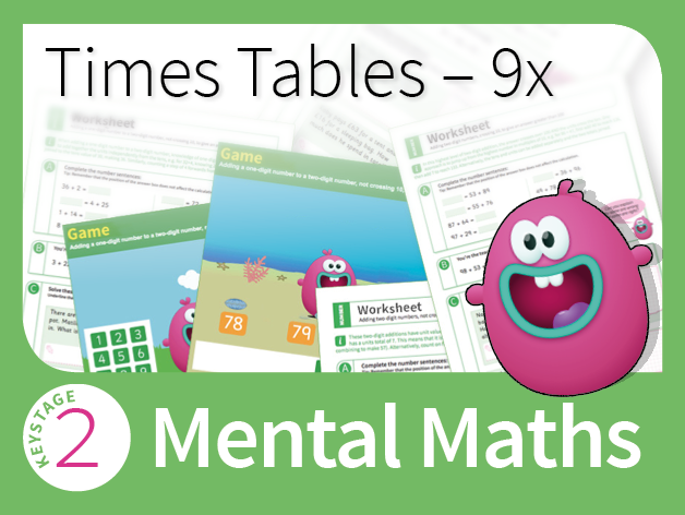 Times Tables Mastery - 9 Times Table