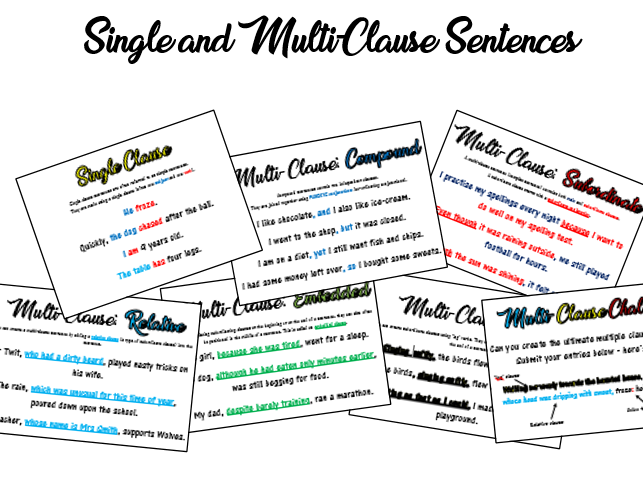 Sentence Types A3 Posters
