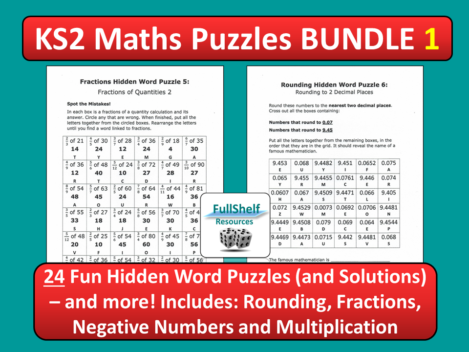 Maths Puzzles 1 (Worksheets)