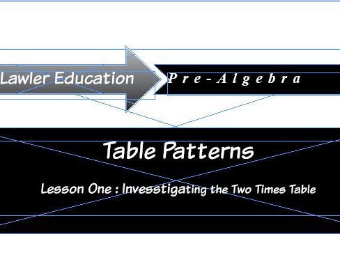 Table Patterns: Lesson One Investigating The Two Times Table