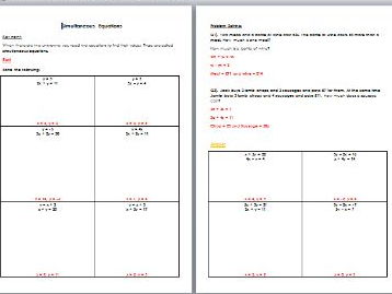 Simultaneous Equations - Edexcel Higher