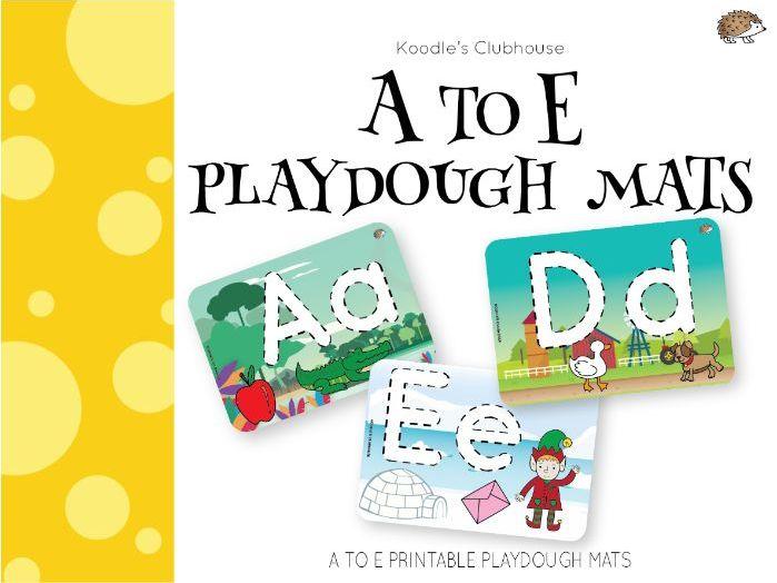 A to E playdough mats SAMPLE