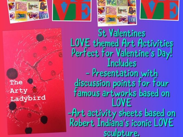 Art &  St Valentines day Art Themed home learning pack