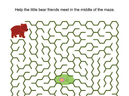 Maze Game with Little Brown Bears
