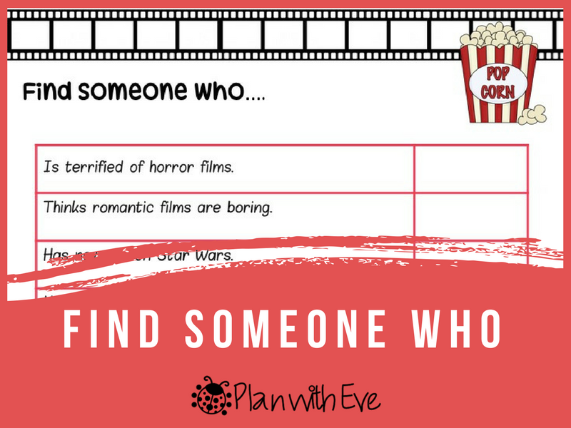 Vocab: MOVIES! Find Someone Who!