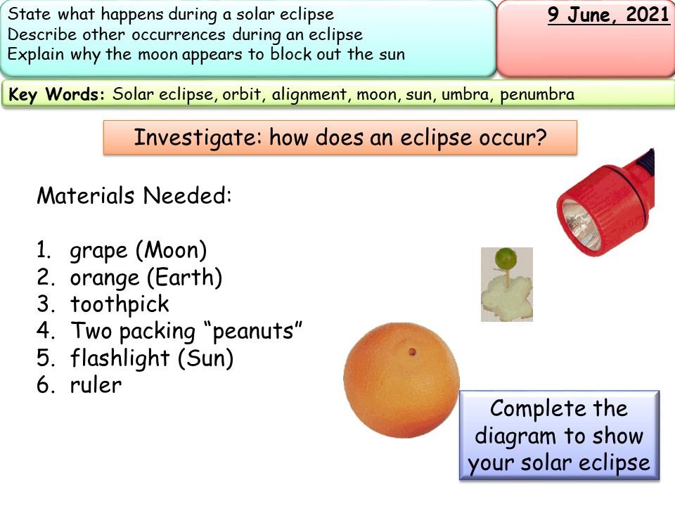 Solar Eclipse full lesson & resource bundle