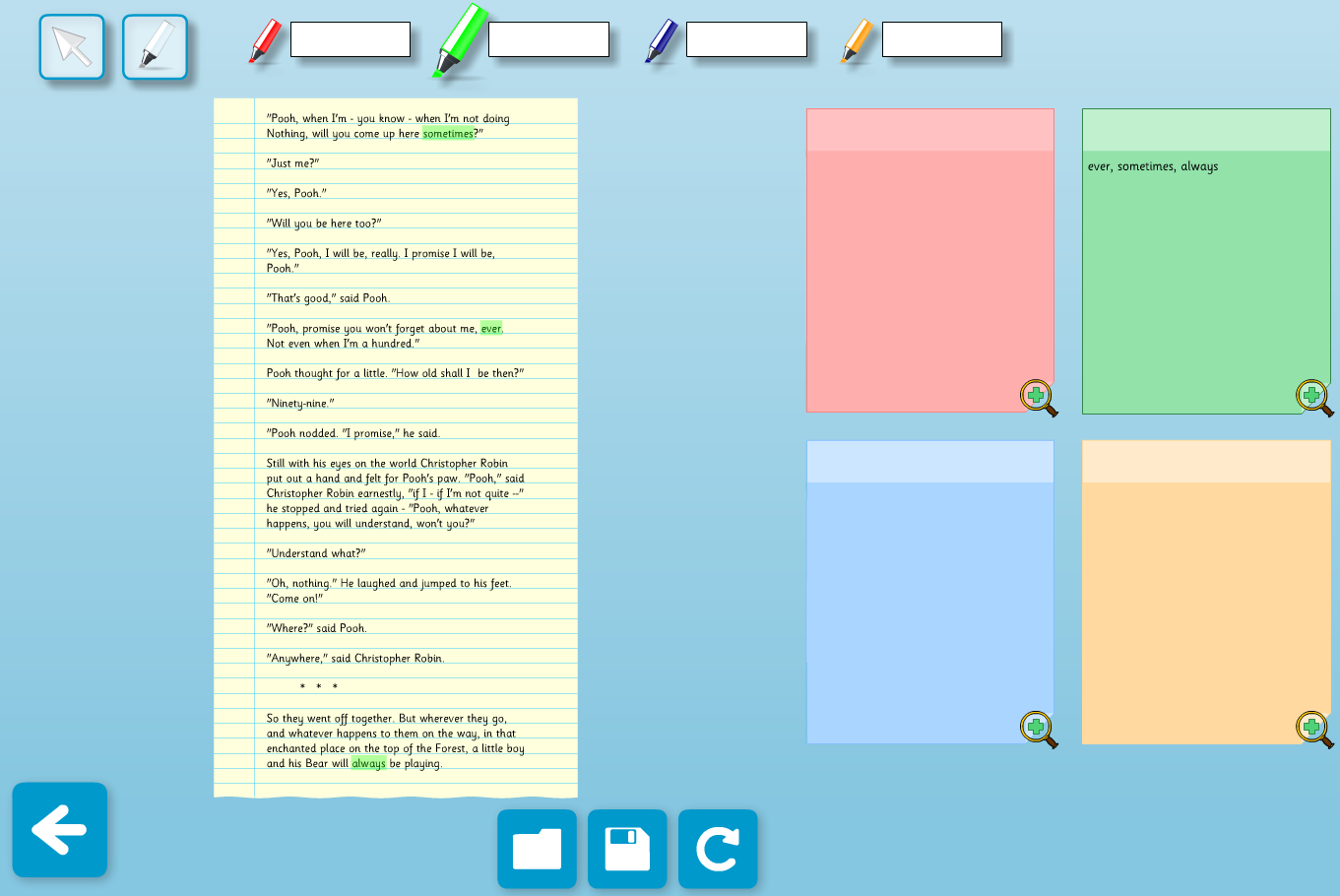 Grouping Highlighter Text Analysis Interactive Tool  - KS2 Literacy
