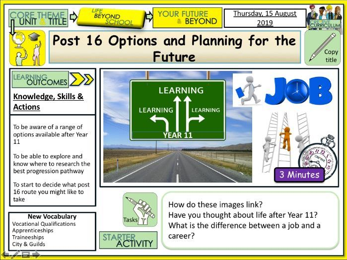 Post 16 Options + Careers