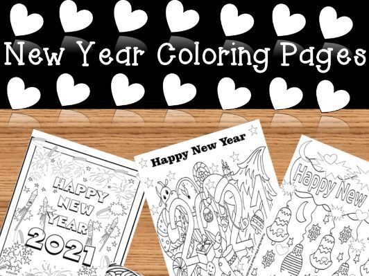 New Years 2021 l Coloring Pages(No Prep)