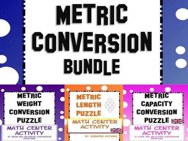 Metric Measurement Conversion Bundle
