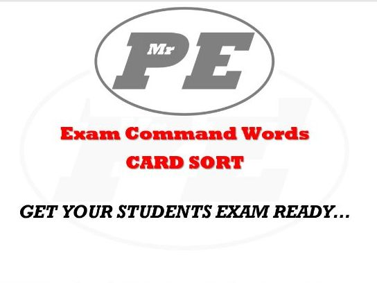 Exam Command Words CARD SORT