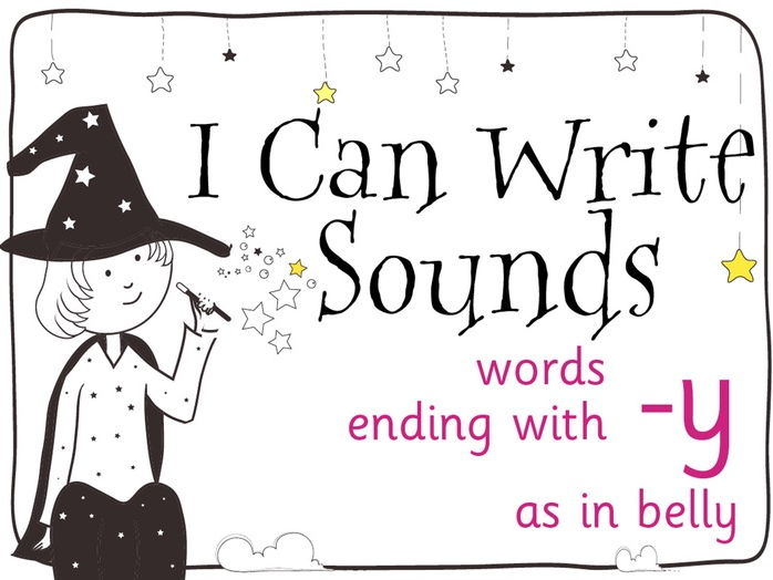 Magic Sounds Phonics Set 36 words ending with -y (as in belly)