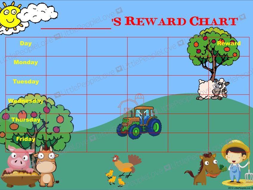 Reward Chart - Farm