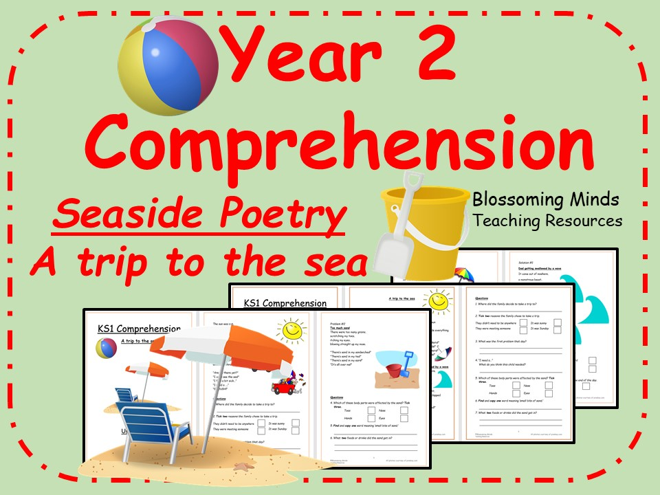 Year 2 Seaside Poetry Comprehension - A trip to the sea