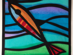 Create stained glass window artworks