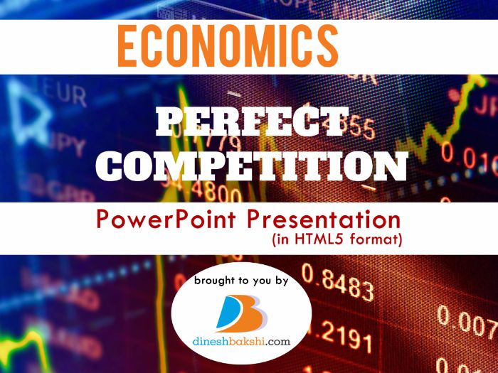 Perfect Competition - Presentation (IGCSE/A Levels/IB Economics
