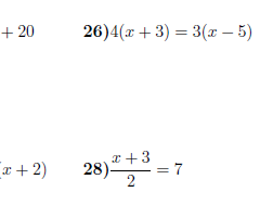 Linear equations worksheet no 3 (with solutions)