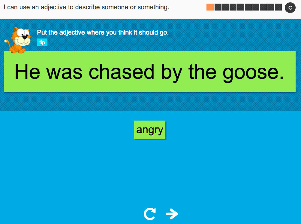 I can use an adjective to describe someone or something - Interactive Activity - Year 2 Spag