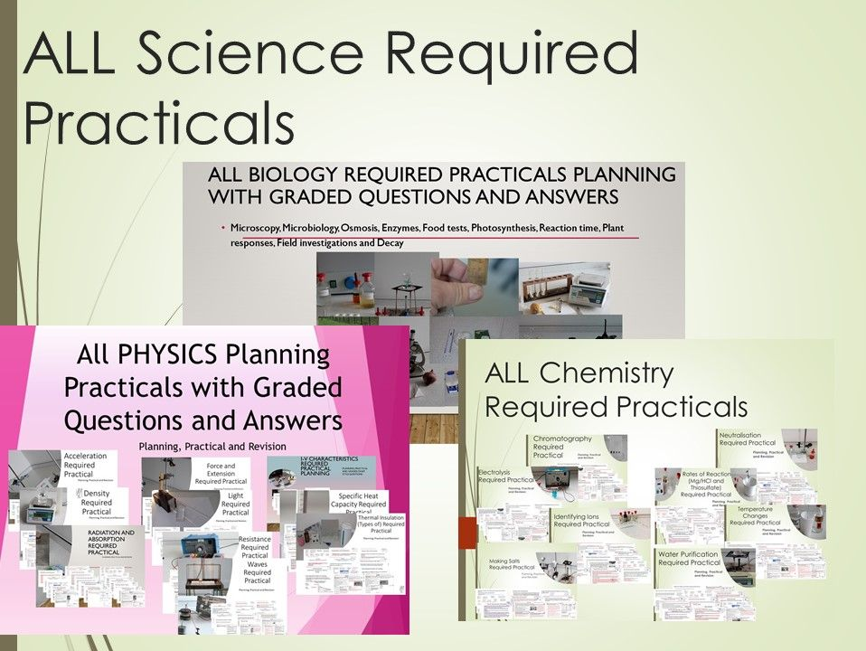 ALL Science Required Practicals