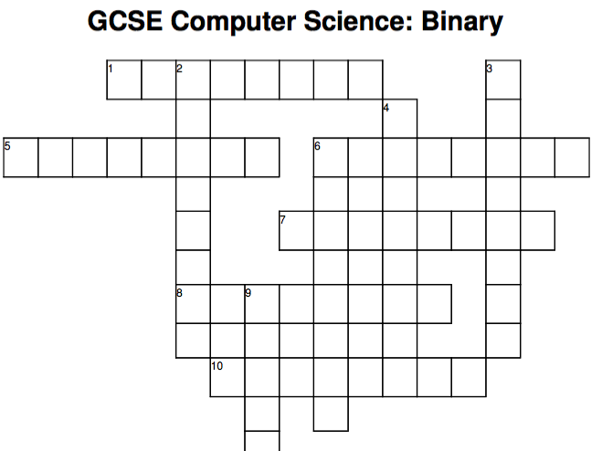 Computer Science crossword: Binary
