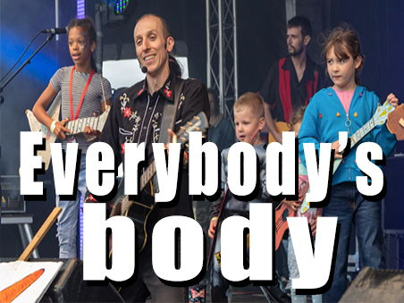 'Everybody's body is different'. Parts of the body/Get moving song. Lyrics and video