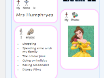 Teacher One Page Profile