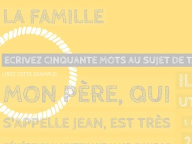 French 50 Word Challenge: La Famille