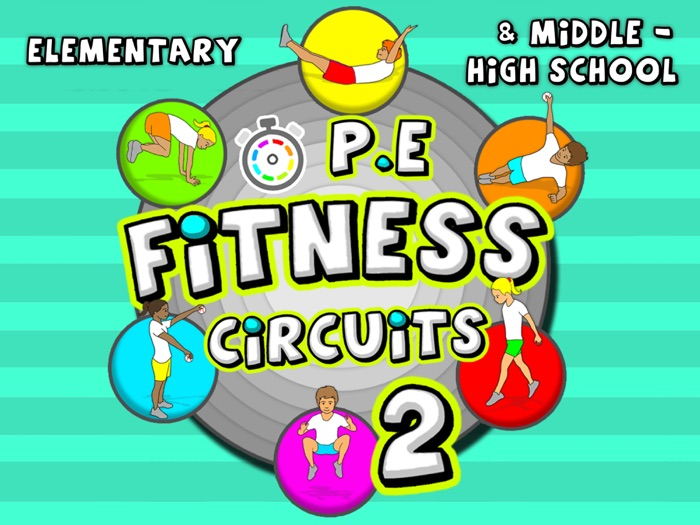 Fitness Circuit Station cards - Volume 2: 36 more PE activities for grades P-8