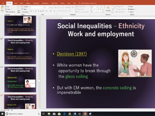 Over 500 slides: Social Inequalities - Gender, Class, Ethnicity and Age