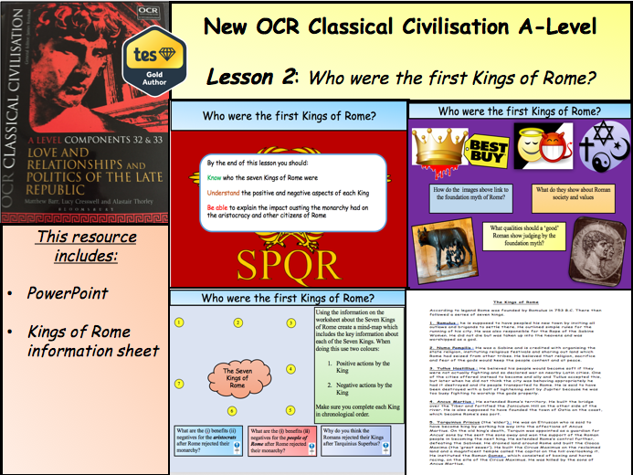 Who were the first Kings of Rome? Lesson 2 (Politics of the Late Republic)