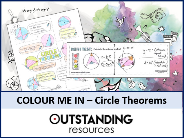 Colour Me In Sheets or Doodle Notes - Circle Theorems