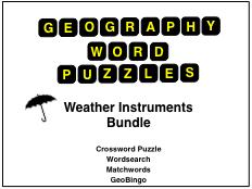 Weather Instruments Word Puzzle Bundle