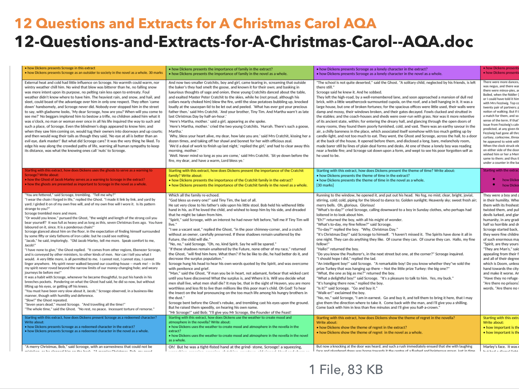 A Christmas Carol Bundle by EnglishGrade5 - Teaching Resources - Tes