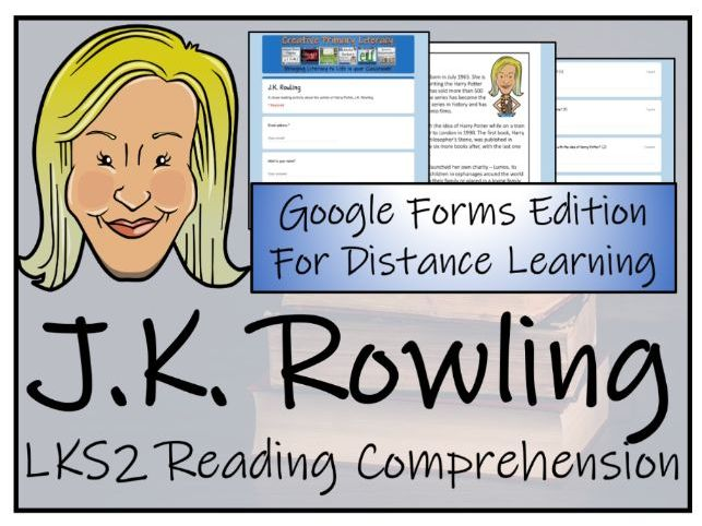 LKS2 J.K. Rowling Reading Comprehension & Distance Learning Activity