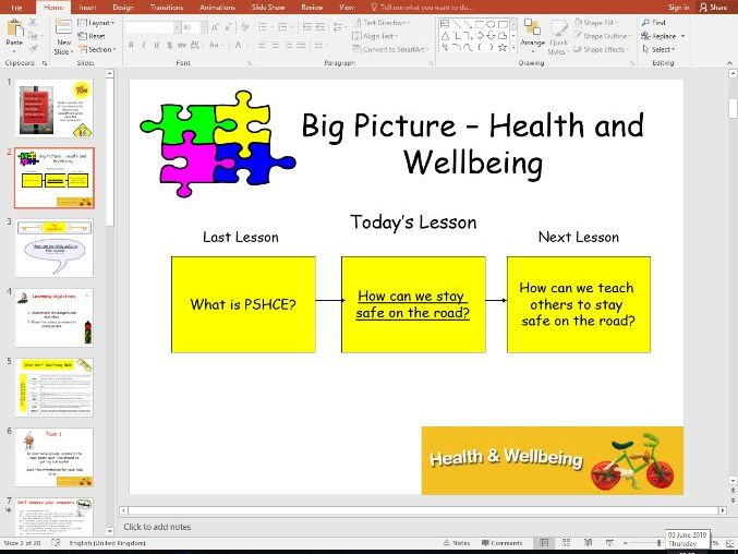 Health and Wellbeing - Road Safety