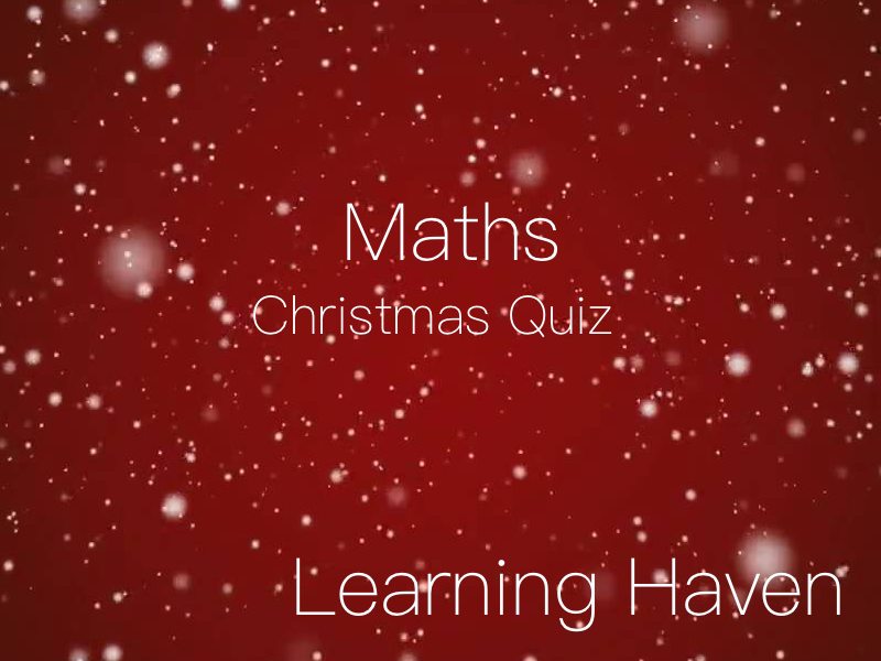 Christmas Maths Quiz!