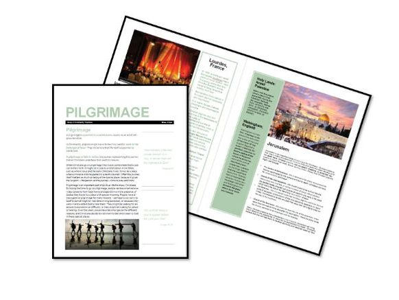 AQA Exam Booklet: Christian Practices: Pilgrimage
