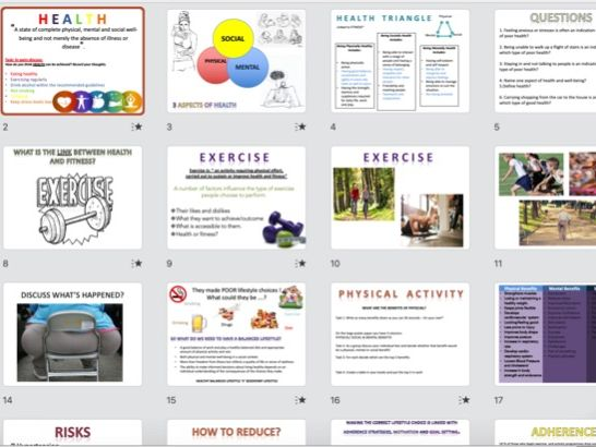 GCSE PE Health, Fitness and Well-Being