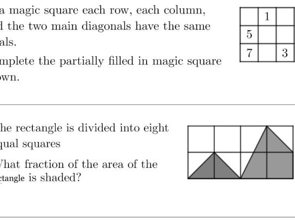 Maths problem of the day 1