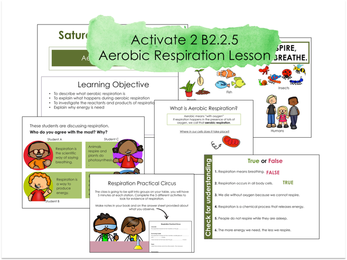 Activate 2 B2.2.5 Aerobic respiration Lesson with Practicals